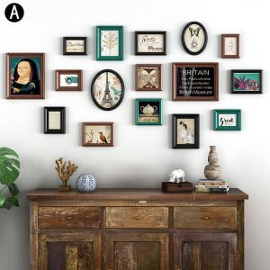 Cadre photo 16 vues en bois 2 modèles pour salle chambre