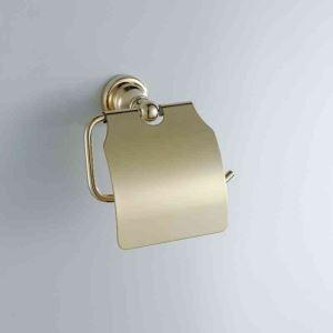 Dérouleur papier toilette laiton d'or Ti-PVD L 15 cm pour WC