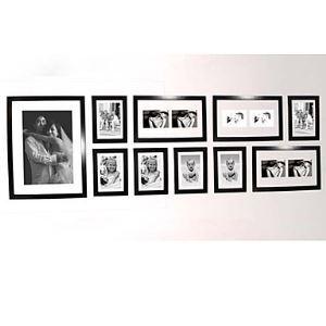 (Entrepôt UE) Cadre de photo mural ensemble-Lot de 10 pour chambre salle décoration