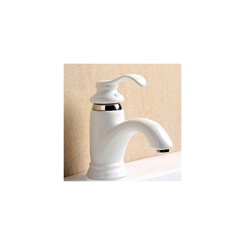 Entrep t ue robinet de lavabo c ramique blanc peinture for Robinet pour lavabo salle de bain