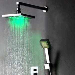 Colonne de douche LED avec robinetterie D20cm pour salle de bains