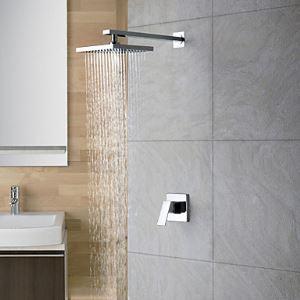 Chromé mural pluie poignée simple robinet de douche (0758-HM-6109)