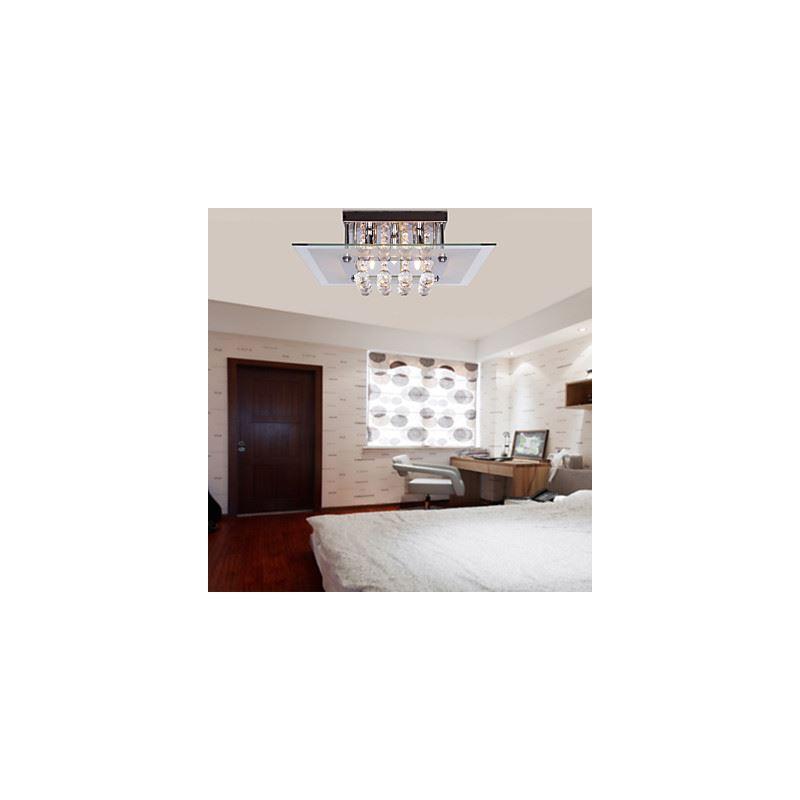 plafonnier contemporains cristal de goutte des lampes encastr s avec 5 lampes carr e. Black Bedroom Furniture Sets. Home Design Ideas