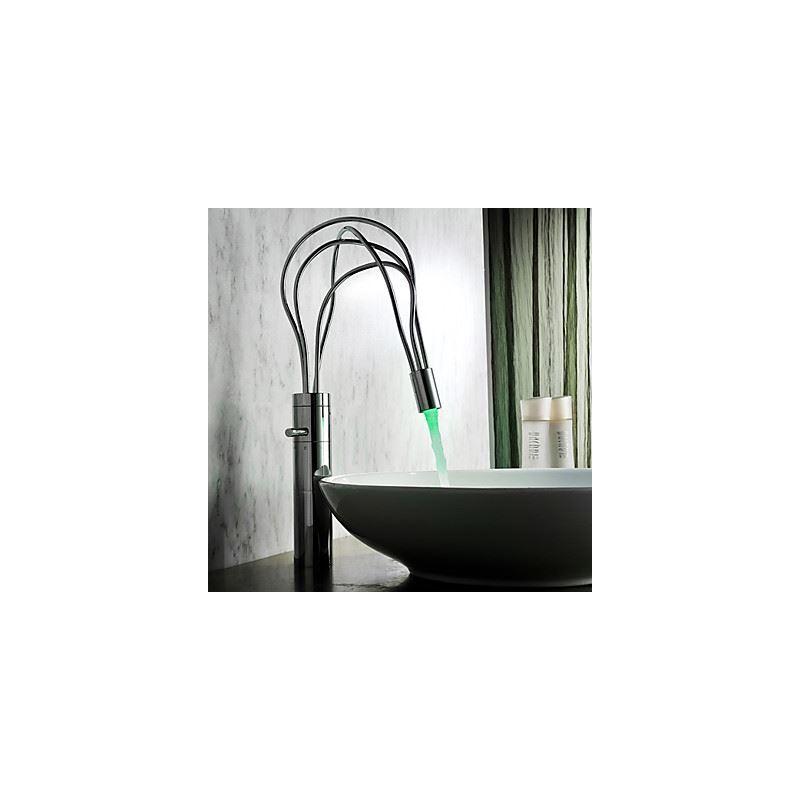 Robinet de lavabo mitigeur led chrom pour salle de bain - Robinet de lavabo salle de bain ...