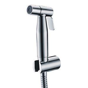 Contemporaine en acier inoxydable finition chromée robinet de bidet sans offre tuyau et support de douche