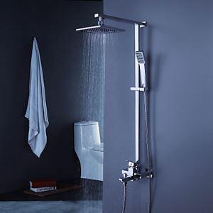 Contemporaine robinet de douche baignoire avec pommeau de douche de 8 pouces + douche à main