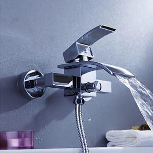 (Entrepôt UE) Robinet de baignoire montage mural cascade contemporaine pour salle de bain