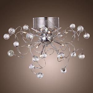 (Entrepôt UE) Plafonnier Lustre en cristal moderne avec 9 lumières