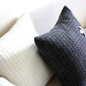 (Entrepôt UE) Enveloppe de coussin / taie d'oreiller Tricot