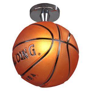 (Entrepôt UE) Lustre en forme de basket ball plafonnier design lampe de plafond pour enfant garçon luminaire créatif pas cher