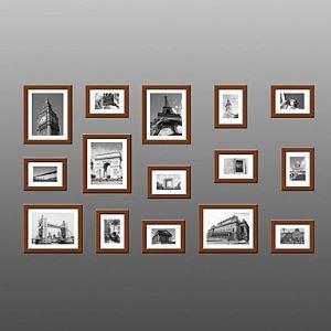 (Entrepôt UE) Cadre de photo ensemble - Lot de 15 FZ-015