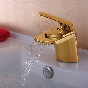 TI-PVD finition laiton massif cascade robinet lavabo