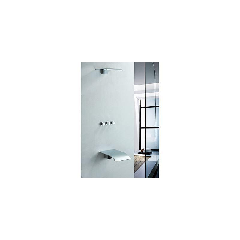 Robinet de douche baignoire avec pommeau de douche en laiton salle de bains t - Montage robinet douche ...