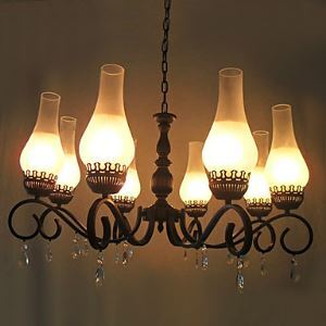 Lustre élégant avec 8 lumières en Style Antique