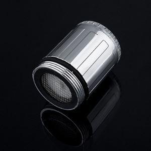 (Entrepôt UE) Contrôle de la température 3 couleurs changeantes Buse de robinet LED