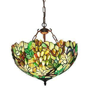 Lustre à 3 lampes tiffany en verre D60cm luminaire pour salle salon