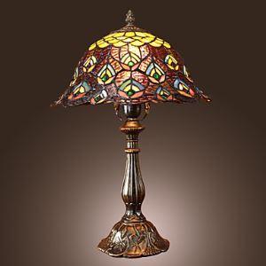 (Entrepôt UE) Tiffany style floral fini bronzé Lampe de table (0923-TF1)