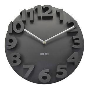 (Entrepôt UE) 3D Nombre Horloge murale créative moderne mode en noir pour chambre salle
