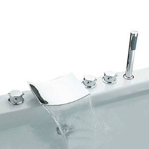 Robinet de lavabo Cascade chromé 3 Poignées
