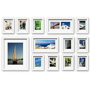 (Entrepôt UE) Moderne simple Cadre de photo murale en blanc-Lot de 13
