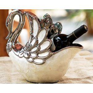 (Entrepôt UE) Haute qualité Casier à vin cygne coquille artistique en céramique
