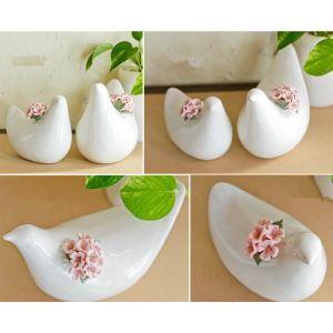 (Entrepôt UE) Ornement oiseau en céramique contemporaine (vendu séparément)