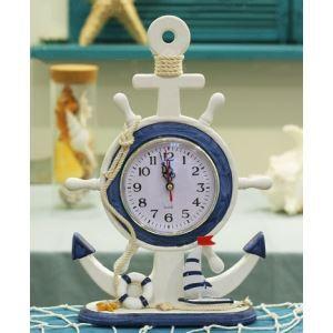 (Entrepôt UE) Horloge de Table décorative Style méditerranéen créative