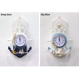 (Entrepôt UE) Style méditerranéen décoratif Horloge murale (vendu séparément)
