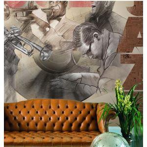 Jazz contemporain non-tissé peinture murale de papier