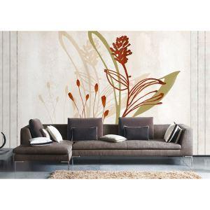 Fleurs artistique contemporain papier intissé Mural