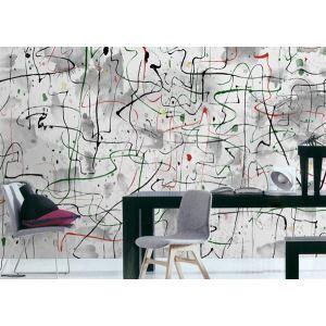 Contemporain abstrait artistique Non tissé papier Mural