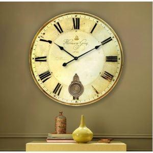 Horloge murale style de campagne - Horloge murale grande taille ...