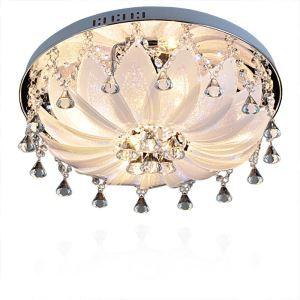 (Entrepôt UE) Contemporains cristal de goutte des lampes encastrés en forme Rond