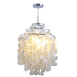 (Entrepôt UE) Lustre/lampe moderne blanc en coquille pas cher luminaire cuisine suspension design