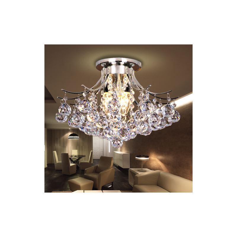 plafonnier cristal 3 lampes d38cm luminaire chambre cuisine salle de bain pas cher. Black Bedroom Furniture Sets. Home Design Ideas