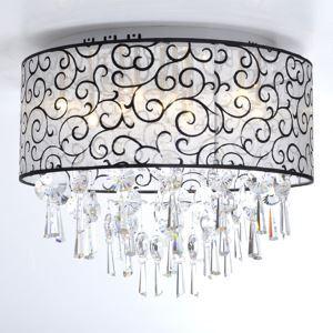 Élégant lustre en cristal avec 4 lumières