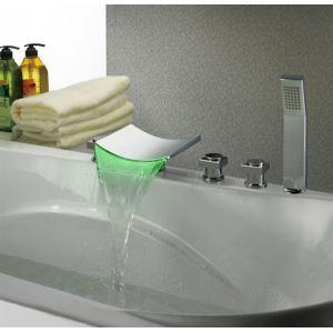 Nouveau Design en laiton cascade LED légèrement coloré robinets