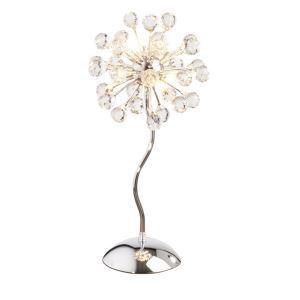 Lampe de chevet à 6 lampes cristal H 48 cm pour chambre