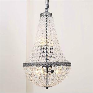 (Entrepôt UE) Lustre Moderne encastré avec 6 lampes et en conception des perles de cristal