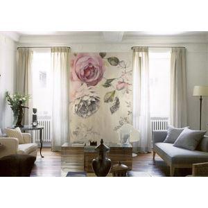 Country américain Style Vintage Rose papier intissé Mural