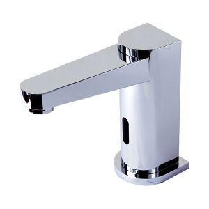 Chromé finition monté des robinets d'évier salle de bain Style contemporain en laiton capteur