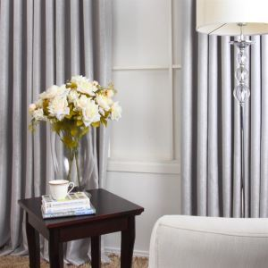 Contempory gris Polyester tissage Blackout rideaux panneau MLS9131