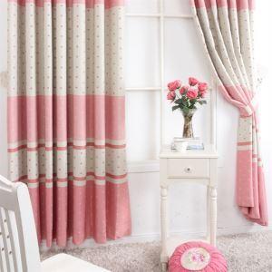 Contemporain Stripe impression motif rouge et gris Polyester éconergétiques rideaux panneau MLS9158