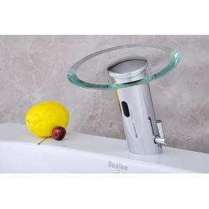 Afficher les détails pour (Entrepôt UE) Robinet de lavabo automatique infrarouge capteur cascade pour salle de bain toilette