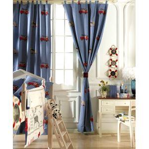 Pays nouveauté coton gaufré bleu éconergétiques rideaux panneau-2079