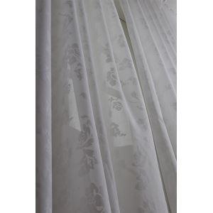 Moderne solide blanc Jacquard Polyester voilages panneau-2055