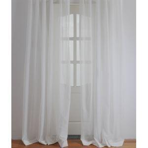Moderne blanc Uni en relief Polyester voilages panneau-2060