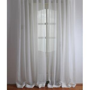 (Entrepôt UE) Moderne blanc Uni en relief Polyester voilages panneau-2061