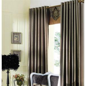 Pays solide gris Jacquard Polyester éconergétiques rideaux panneau-2064