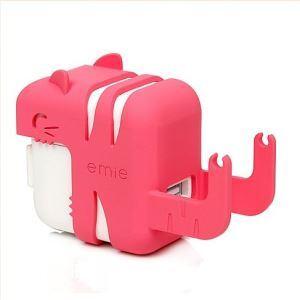 (Entrepôt UE) Chat mignon de Kitty téléphone portable chargeur universel de protection coquille et support de téléphone